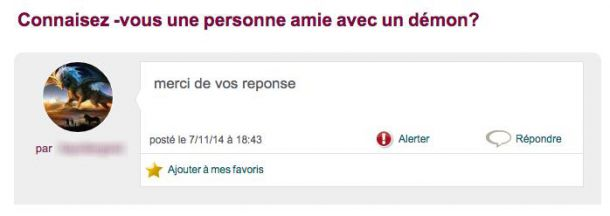 démon perles des forums