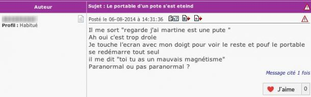 telephone perles des forums