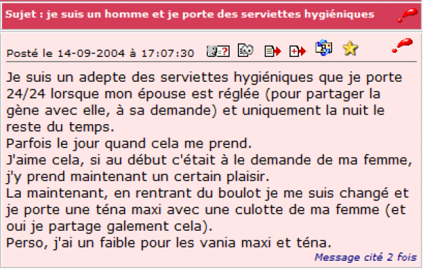 trip serviette hygiénique perles-des-forums