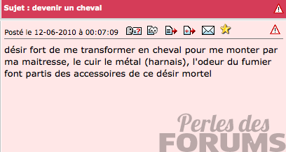 cheval perles de forums