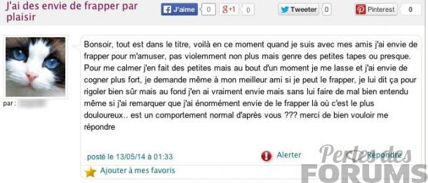 frapper perles des forums