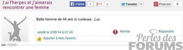 herpes perles des forums