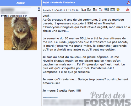 deprime totale amour perles des forums