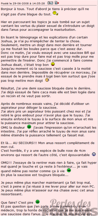 sauccisse perles des forums